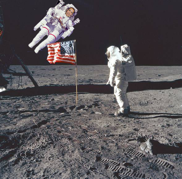 astronauts jumping on the moon - photo #5